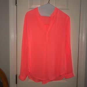 Neon coral top size small